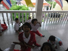 Students at Wat Kajonrangson School before my recent substitution gig.