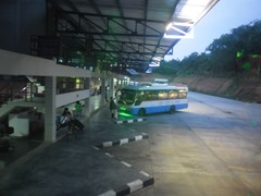 Early morning view from my bus at Phuket's Bus Terminal No. 2.