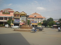 Traffic circle in SW Siem Reap