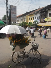 Flower-seller at Siem Reap Old Market