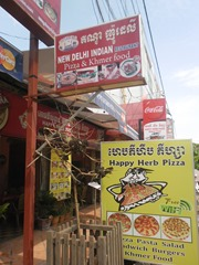 "The ""original"" Happy Herb Pizza in Siem Reap."