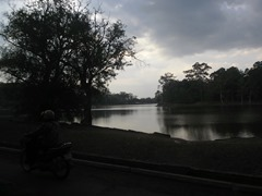 A small portion of Angkor Wat's huge moat.