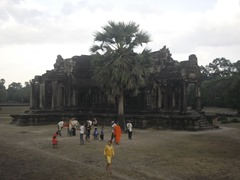 Library to the south of Angkor Wat's causeway.
