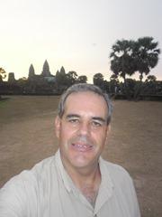 Self-portrait at Angkor Wat, 6:04 am 13 April 2013.