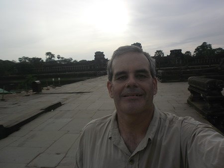 On the causeway, heading out of Angkor Wat for my next temple of the day...