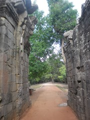 Path through the east gate of Ta Prohm