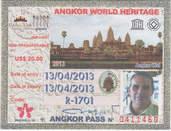 One-Day Pass to Angkor Archaeological Park, Cambodia.