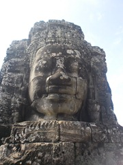 One of the 200 or so stone faces at The Bayon, near Siem Reap, Cambodia.