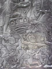 Bas-releifs at The Bayon, Ankgor Thom, Cambodia.