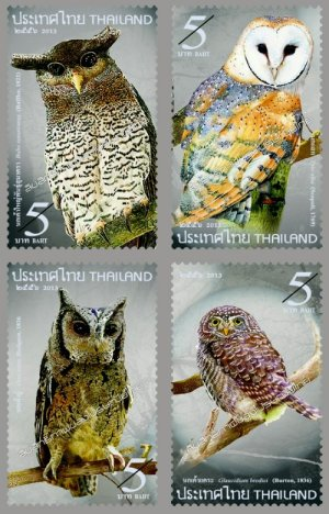 Thailand - Owl stamps 2013