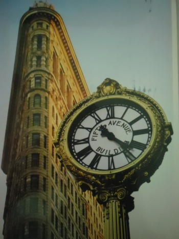 Flatiron Building and Fifth Avenue Clock, New York City
