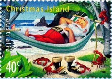 Island Christmas Theme.The 12 Days Of Christmas Stamps 2013 6 Christmas Island