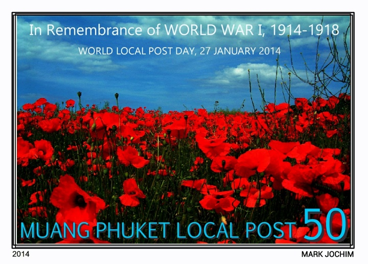 Unused design for World Local Post Day 2014