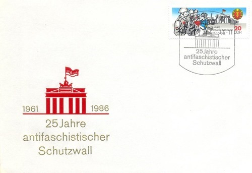 Germany(East) FDC - 25Yrs of Berlin Wall - Marco