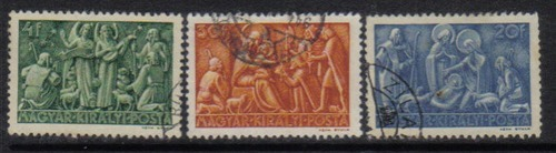 1943 Hungary Nativity set