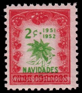 1951 Cuba Christmas stamp