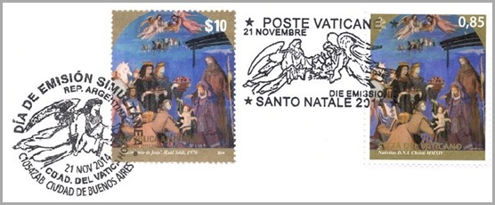 Christmas 2014 - Argentina & Vatican City (joint issue)