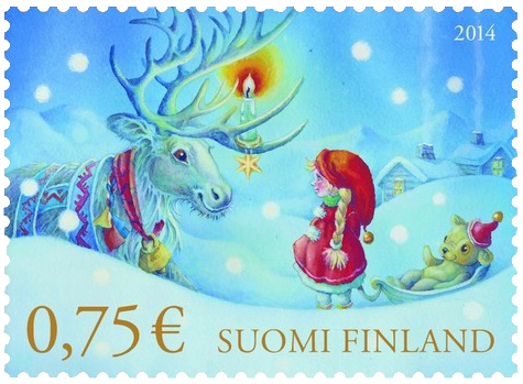 The 12 days of christmas stamps 2014 day 4 finland hong kong christmas 2014 finland 03 b m4hsunfo