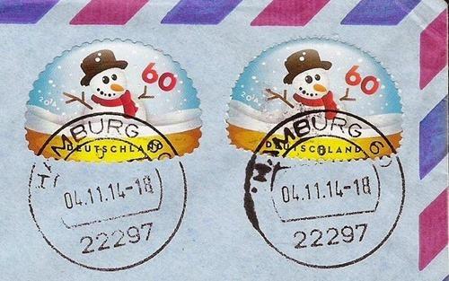 Christmas 2014 Germany 02 - postally used, crop