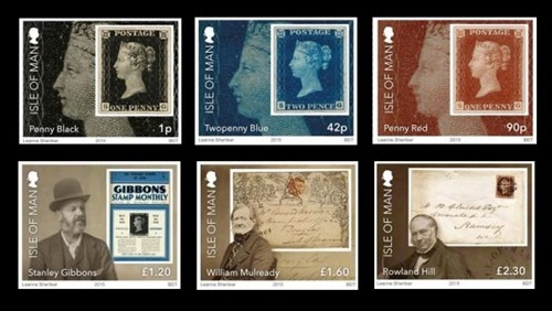 Isle Of Man - 2015 - 175th Anniversary of Penny Black set