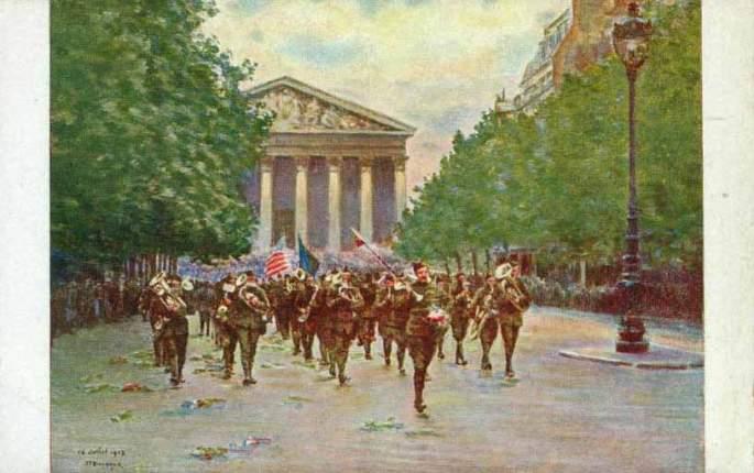 Bastille Day Parade, Paris 14th July 1918