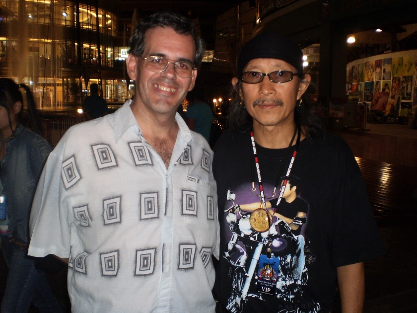 With Aed Carabao, lead singer of Thailand's most popular rock group -- Carabao -- in Patong, April 2013