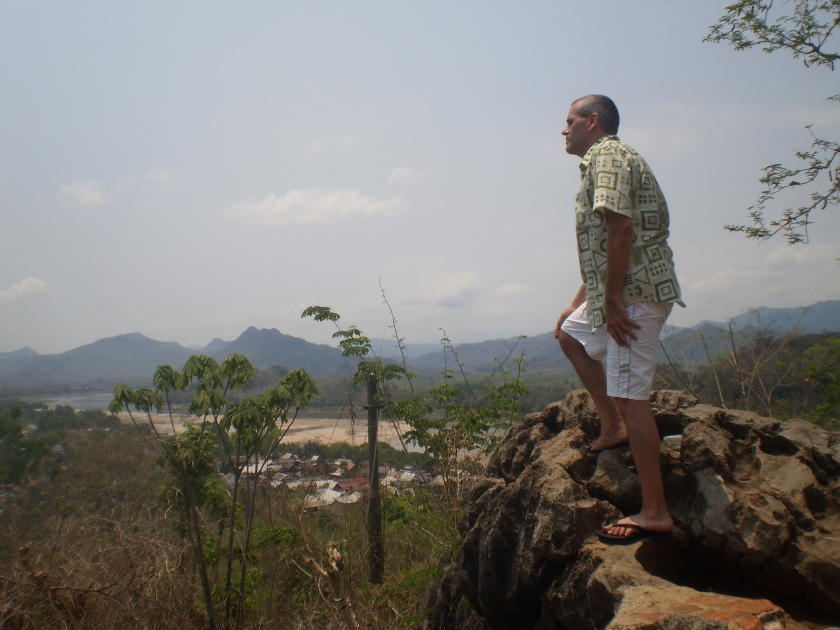 """I'm King of the World!"" - High above Luang Prabang, Laos - mid-April 2010"
