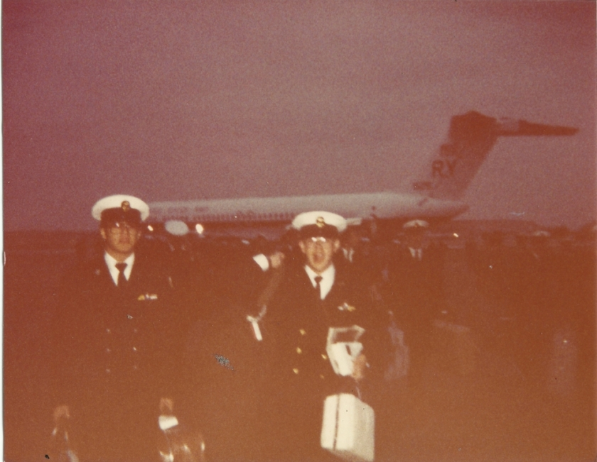 Return to Johnson County Industrial Airport (Olathe, Kansas) following Damage Control training at the Fleet Training Center, Naval Air Station San Diego (California) - just prior to Christmas 1983