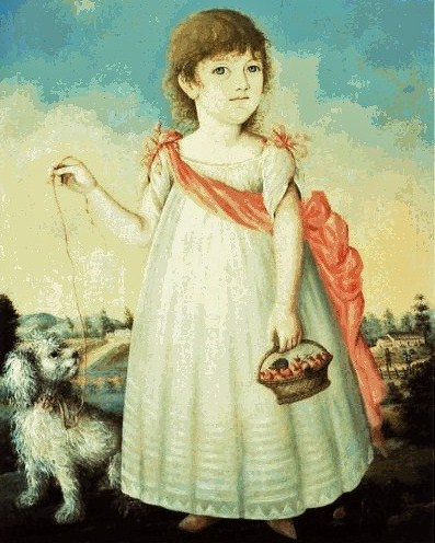 Charlotte Marsteller - granddaughter of Philip, painted in early 1800's