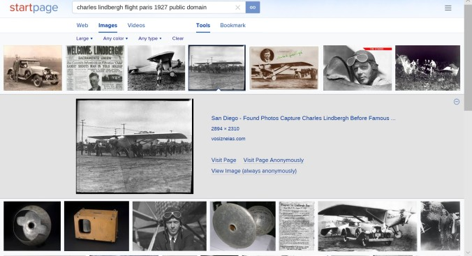 "StartPage.com search engine sample search results ""Charles Lindbergh"""
